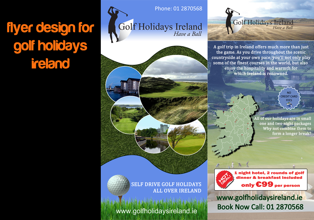 Golf Holidays Ireland – Flyer Design